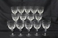 """Set of 13 Stuart Crystal HAMPSHIRE 6 1/2"""" Water Goblets EXCELLENT Condition!"""