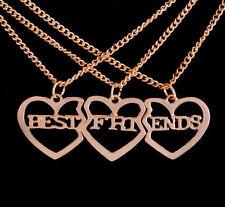 Best Friends 3 beste Freunde Freundinnen Freundschaftskette Halskette Kette