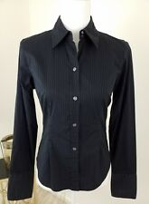 New York And Co~Women's Size S~Black Button Down Career Work Shirt City Stretch.