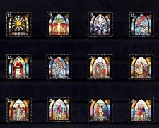 Guernsey - 1993 - Christmas - Stained Glass Windows - Chapel - 12 X Mint Set!