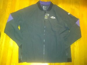 Nike NFL Baltimore Ravens On-Field Therma Jacket Size Large AO4347-010