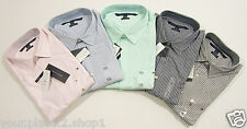 Tommy Hilfiger Mens L/S Custom Fit Stretch Striped Casual Button Front Shirt