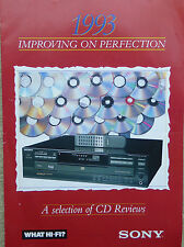 SONY 1993 Sales/What Hi-Fi Review Pamphlet for CD Players