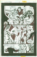 Superboy and the Ravers #16 Josh Hood Original Comic Art Page #18 DC Comics 1997