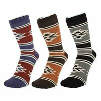 Ankle Socks with Aztec Design (Size: 4-7)