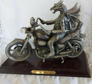 Tudor Mint Myth and Magic Large Dragon Figurine on Motorbike 'Hot Wheels'