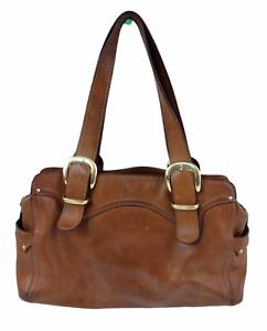 Michael Kors Brown Leather Hobo Handbag Purse Women's Zipper