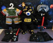 Build a Bear Bundle - Star Wars Logo Bear - Vader, Boba Fett, Kylo Ren Clothes