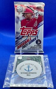 2021 Topps Series 1 Factory Sealed Hobby Box Pack & Bonus Cards - Relic, Auto