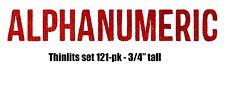 Sizzix Thinlits Alphanumeric alphabet set #660056 Retail $19.99 121-pk Holtz!!!