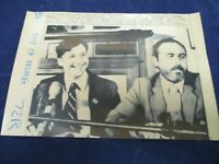 1984 Martin Galvin is flanked by Danny Morrison Vintage Wire Press Photo