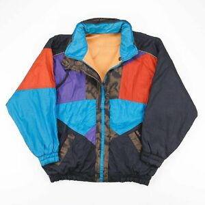 Vintage ISPO  Black 90s Polyester Casual Outdoor Jacket Womens M