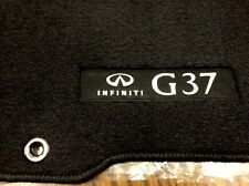 2012 Infiniti G37 4 Door SEDAN Carpeted Floor Mats - Genuine Factory Set - BLACK