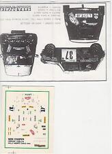 1/43 RARE DECAL AUSTIN MINI ROVER N°37 RALLY WRC MONTE CARLO 1994 MONTECARLO