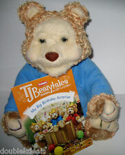 EUC TJ BEARYTALES BEAR + MY BIG BIRTHDAY SURPRISE BOOK