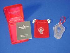 WATERFORD CRYSTAL CHRISTMAS ORNAMENT 1984 CANDLE LAMP BOX, BROCHURE, FELT BAG