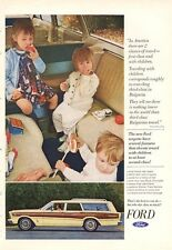 1966 Ford Country Squire Station Wagon PRINT AD