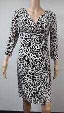 NEW FAST to AUS - Ralph Lauren Long Sleeve Dress Size 8 Black & White Print $134