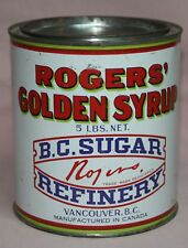 VINTAGE -ROGERS' GOLDEN SYRUP 5 LB.  B.C. SUGAR  VANCOUVER, CANADA TIN/CAN