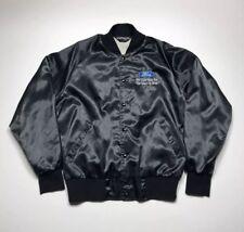 Vtg Ford Satin Jacket Size L Large Sportsmaster Black 70s 80s 90s