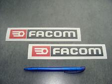 2x stickers Facom tools Rouge/Noir 18cm Auto Moto decals pegatinas aufkleber A73