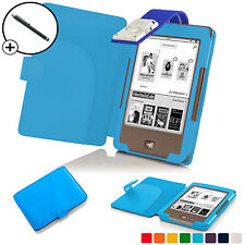 Forefront Cases® Sky Blue Leather Smart Case Cover with Light Tolino Page Stylus