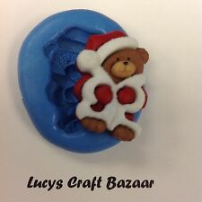Silicona Molde De Navidad Santa Oso De Peluche Sugarcraft Decoración De Pasteles Cupcake Topper