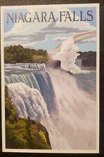 Niagara Falls, New York - Day Scene - Lantern Press Postcard