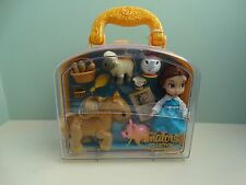 Disney Store Belle Mini Animator Doll Beauty Beast BNWT Mrs Potts Carry Case