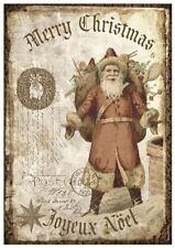 Decoupage-Serviettentechnik-Softpapier-Vintage-Weihnachten-Nikolaus-12129