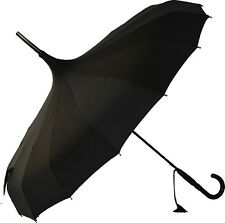 Fashion Edging Pagoda Umbrella Creative Long Handle Sunny Rain Umbrella New Prop