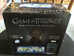 Game of Thrones 350+ Piece Mini Puzzle of Westeros and 17 Buildings -