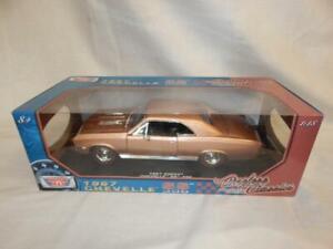 MOTORMAX 1967 CHEVELL SS 396 GOLD 73104TC BNIB 1:18
