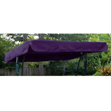 Purple Water Resistant 2 Seater Replacement Canopy for Garden Hammock Swing Seat