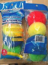 8 pcs SCRUBBIES Plastic POT SCRUBBERS DISH KITCHEN Bathroom Cleaning Scourer