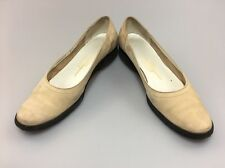 Salvatore Ferragamo Boutique Casual Slip On Flats Size 7.5  AAA Nude Beige Sand