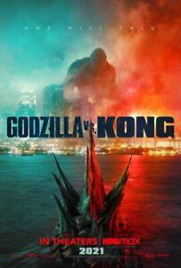 Godzilla vs Kong (2021) D/S Orig Movie Poster 2-Sided Ver 1 27x40 Millie Bobbie