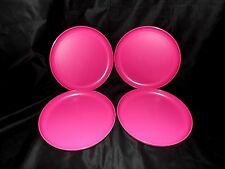 Tupperware 4-pc Party Plates Set Pink Essentials 8.5""