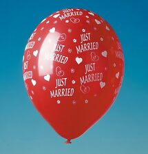 "15 Luftballons rot ""Just Married"" Hochzeit Luftballon"