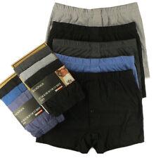 6 Pairs Men Plain Boxer Underwear Classic Cotton Rich Boxers Shorts S - 7XL