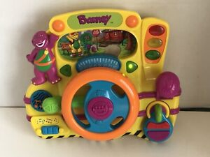 Barney Steering Wheel Driving Electronic Driver Songs Learning Interactive