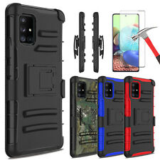 For Samsung Galaxy A71 5G Case Stand Holster Belt Clip Cover / Screen Protector