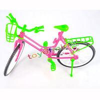 Schöne Fahrrad Abnehmbare Bike & Korb Spielzeug-Zubehör Für Barbie-Puppen