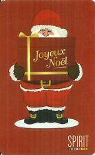 "RARE / CARTE CADEAU - SPIRIT "" JOYEUX NOËL "" PERE NOËL / CARD MERRY CHRITMAS"