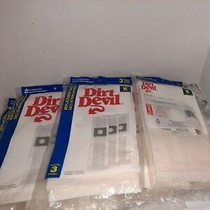 Lot Of 11 (3) Pack Type E Dirt Devil Broom Vacuum Cleaner Bags (33 Bags)
