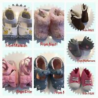 Baby Girls Shoes 0-6 Months x8 Pairs Slip On Booties Sandals NEXT MOTHERCARE