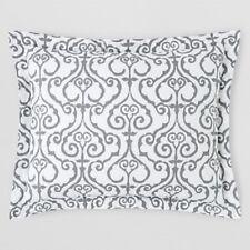 John Robshaw Wafir King Sham White Charcoal Grey 1 Sham New $115