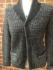 Neiman Marcus Rag & Bone NY Womens Black and White Cardigan Style Sweater Sz L