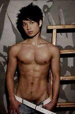 Shirtless Male Beefcake Asian Muscular Hunk Jock Hot Dude PHOTO 4X6 D705
