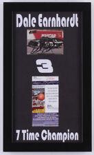 Dale Earnhardt Sr. Signed NASCAR 8x13.5 Custom Framed Card Display (JSA COA)